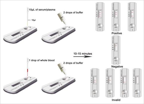 Coronavirus Test Kit and Device Reading