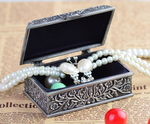 Pewter Jewelry Box 2